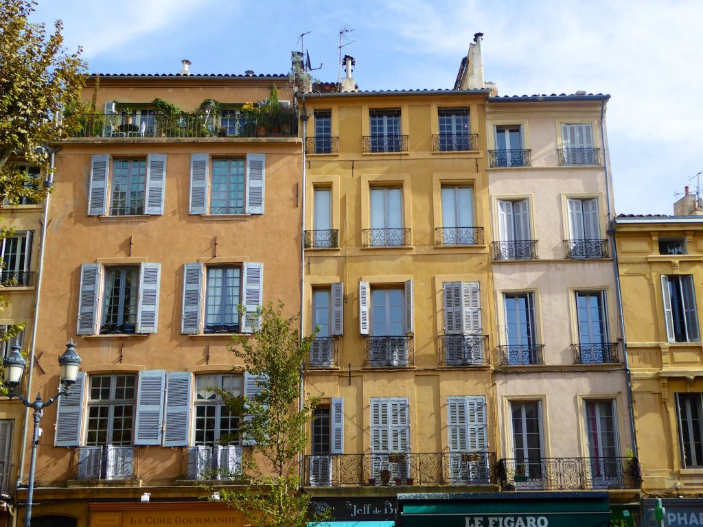 Shutters of Provence in Aix-en-Provence, Provence, France