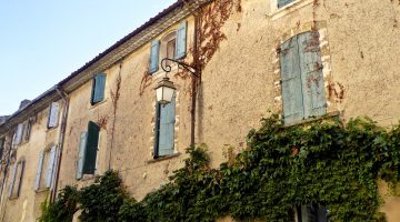 Shutters of Provence in Lourmarin Provence, France