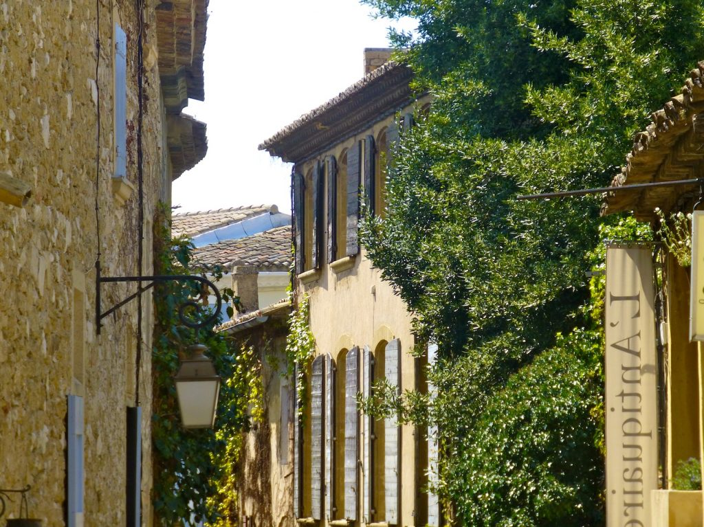 Old shutters of Provence in Lourmarin
