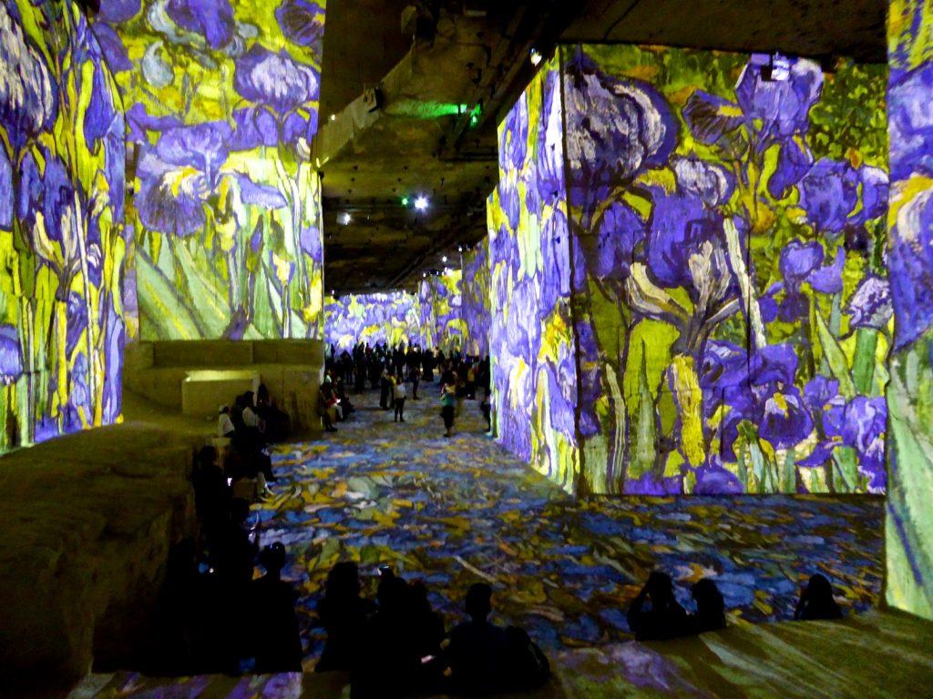 Van Gogh's irises at Carrières de Lumières 2019