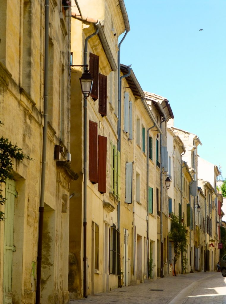 Shutters of Provence on a street in Uzes