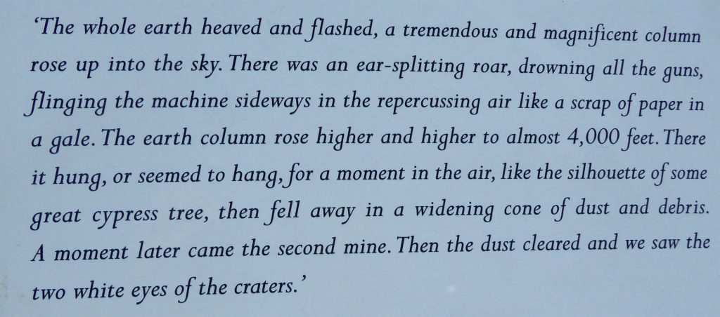 Cecil Lewis' description of the Lochnagar Crater Explosion