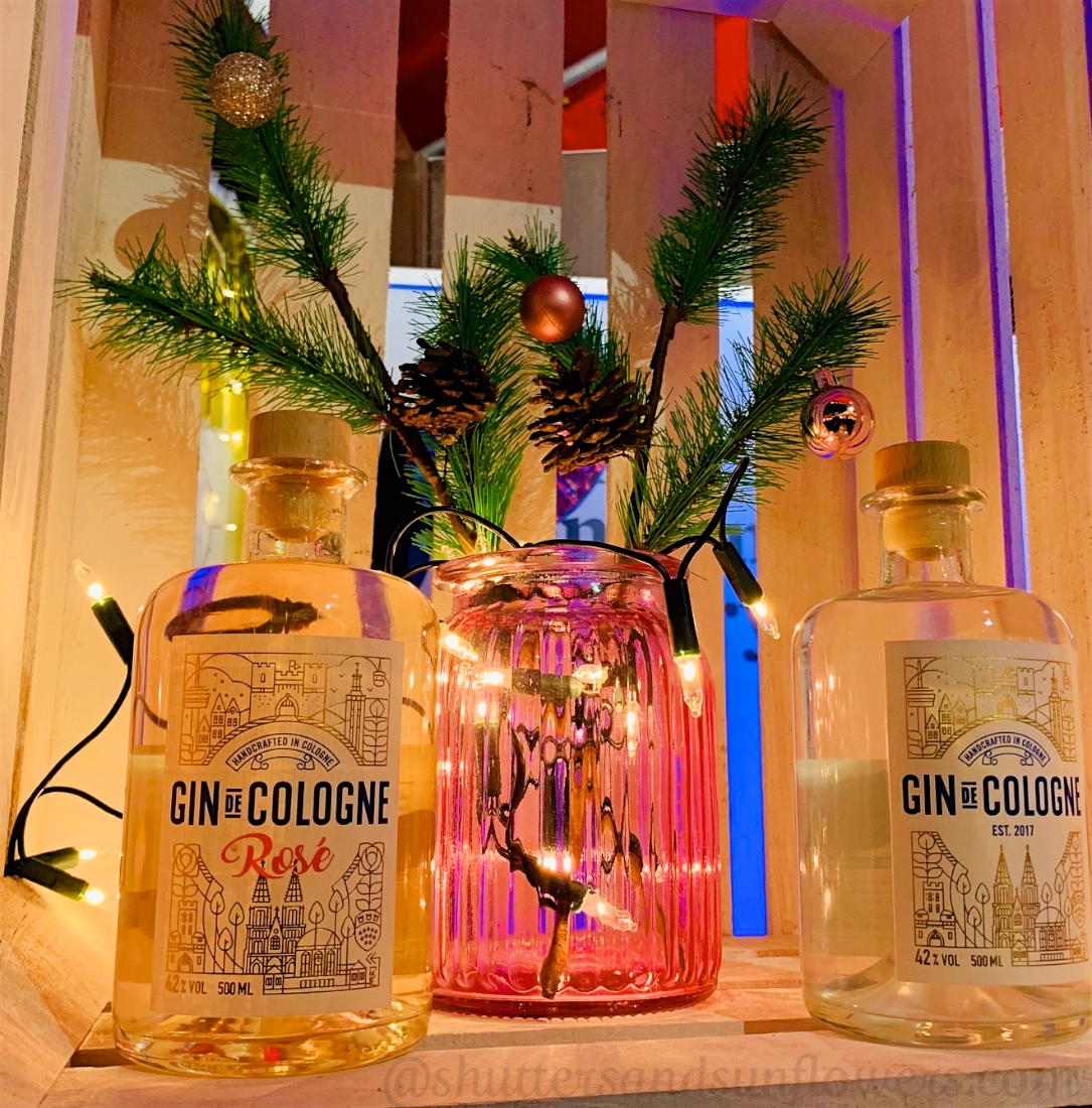 Local Gin for sale at the Cologne Christmas market