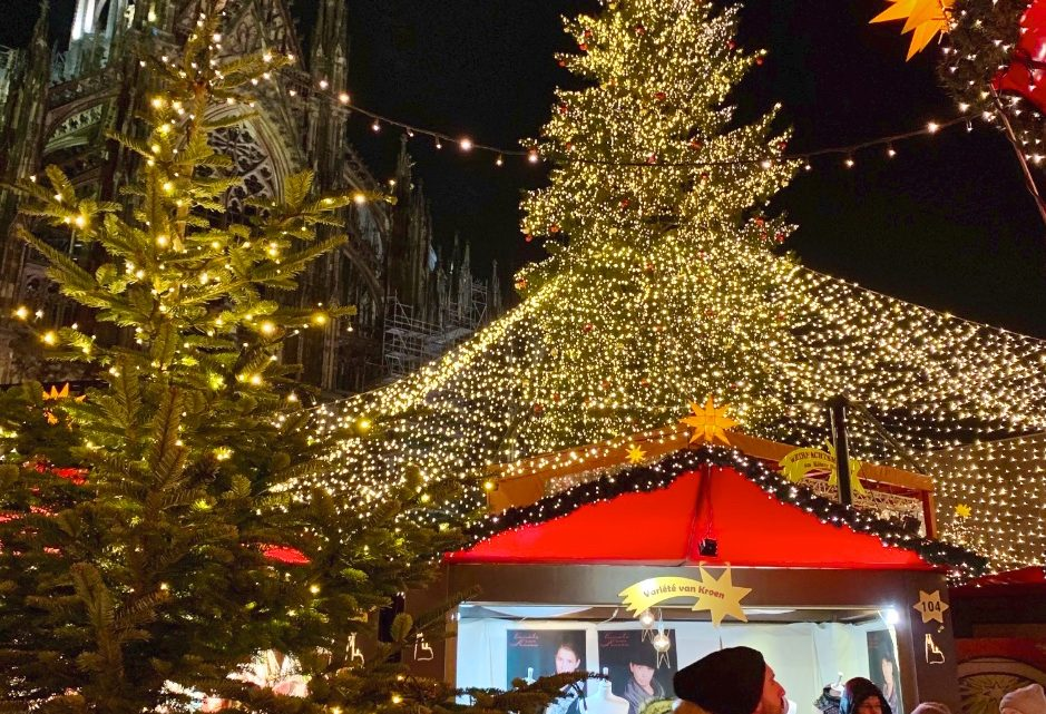 The Cologne Christmas market in Germany