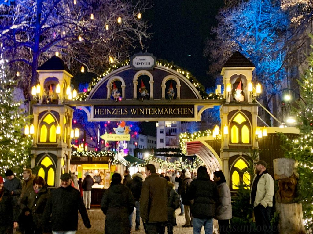 The entrance to Cologne Christmas markets, Cologne, Germany