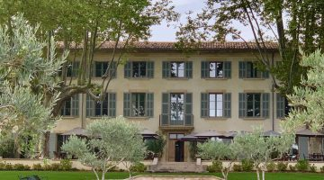 Rear of Domaine de Fontenille, Lauris, Luberon Vaucluse, Provence, France