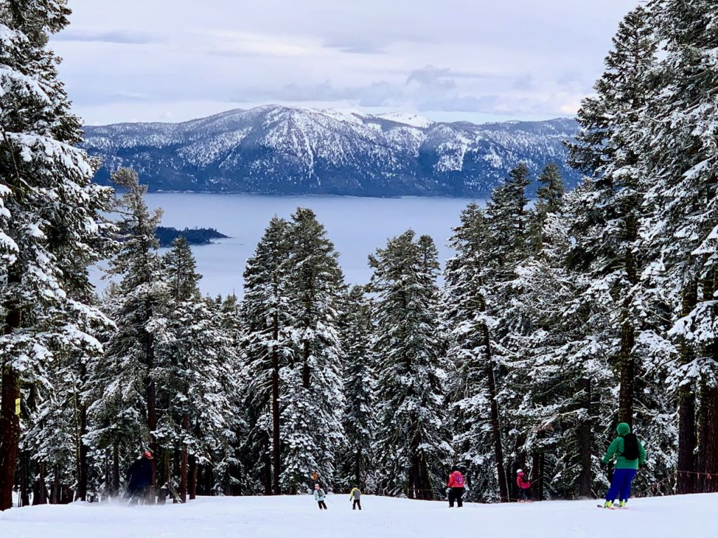 Lake Tahoe California, skiing at Northstar