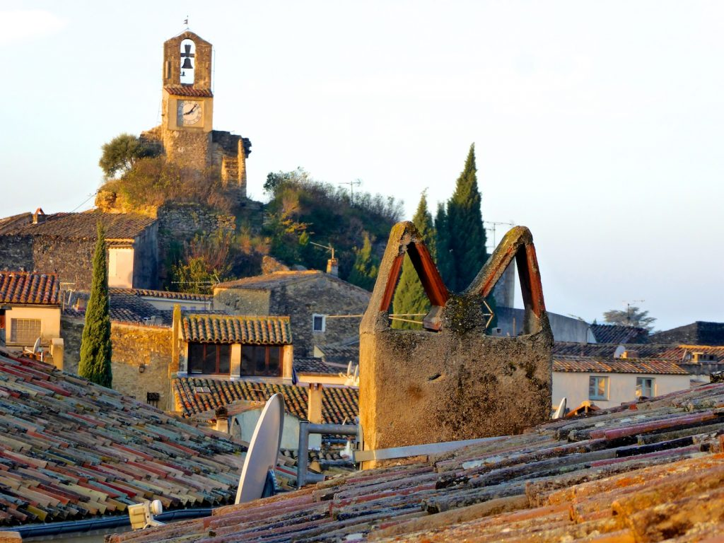 Lourmarin roof tops, where church bells tell the time