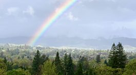 Rainbow over Mt Diablo, Danville California