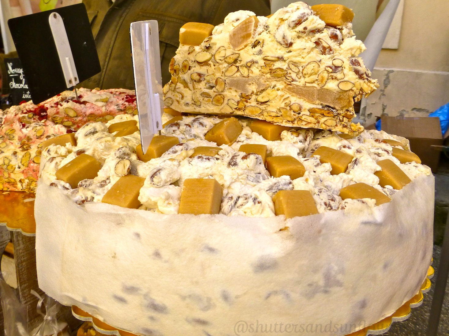 French nougat for sale Lourmarin market