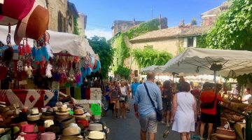 The Lourmarin market