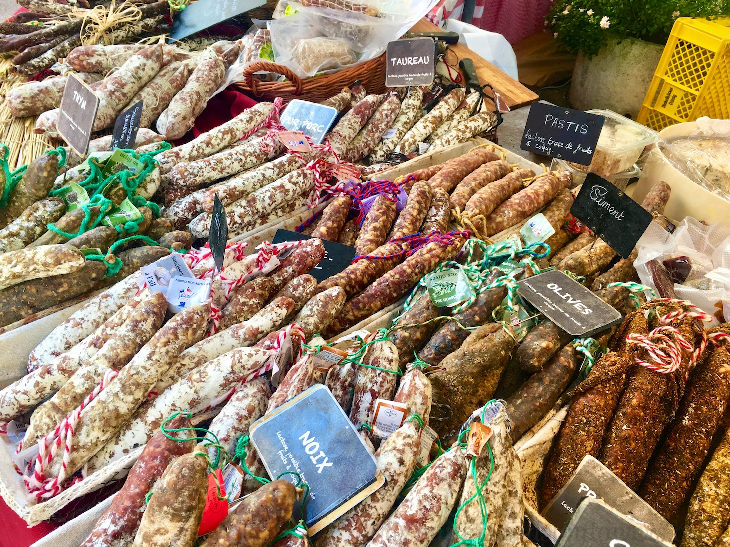 Saucisson at the Lourmarin market