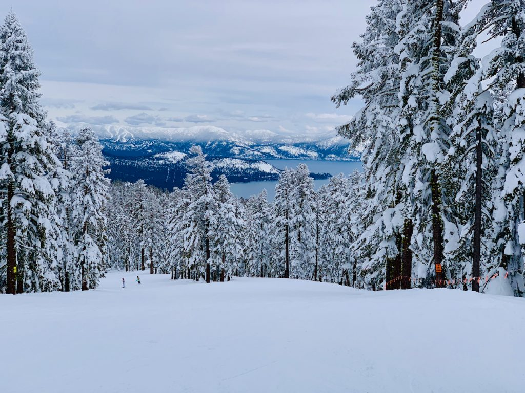Top of the mountain at Northstar, Lake Tahoe, California, USA