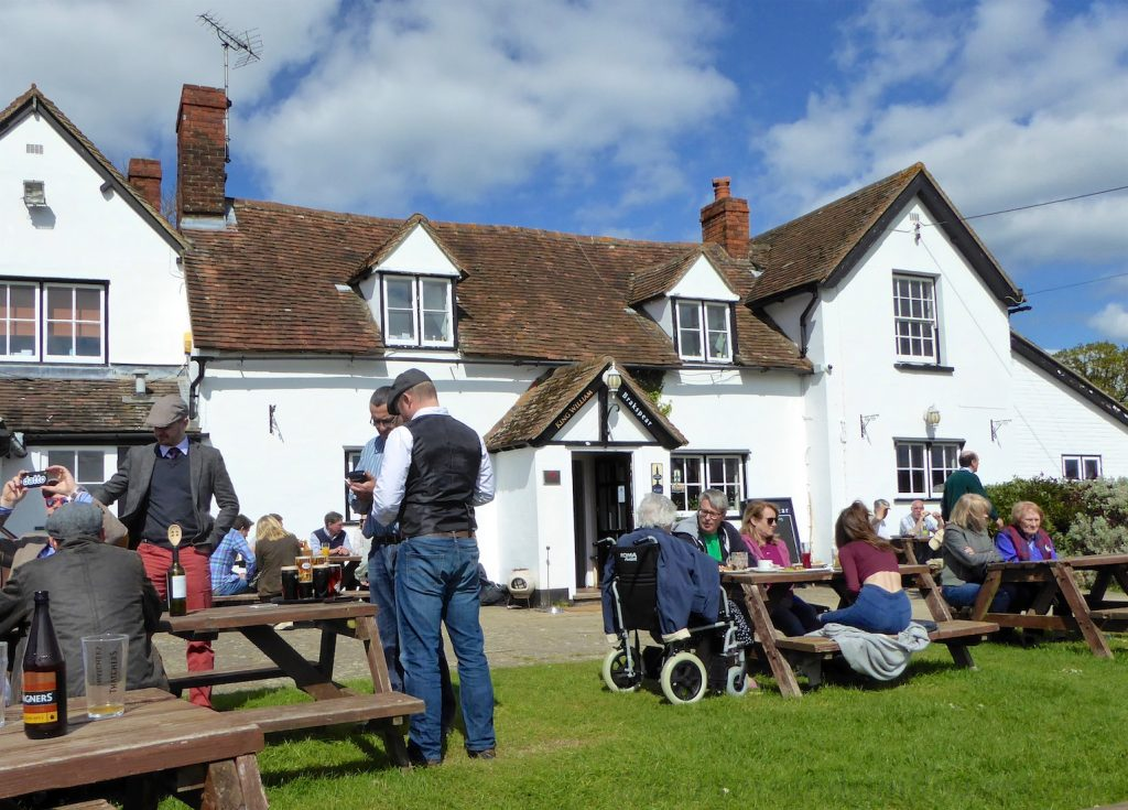 Pub gardens in the spring