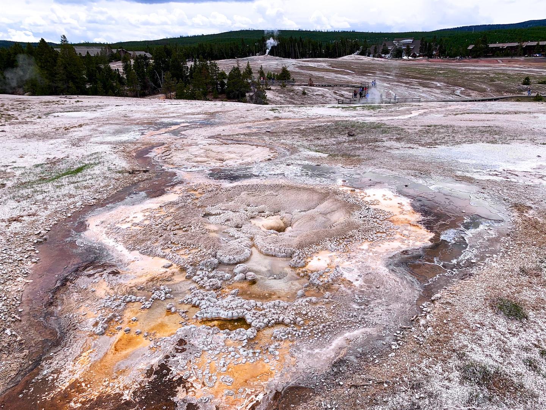 Anemone thermal pool at Upper Basin, Yellowstone National Park, USA