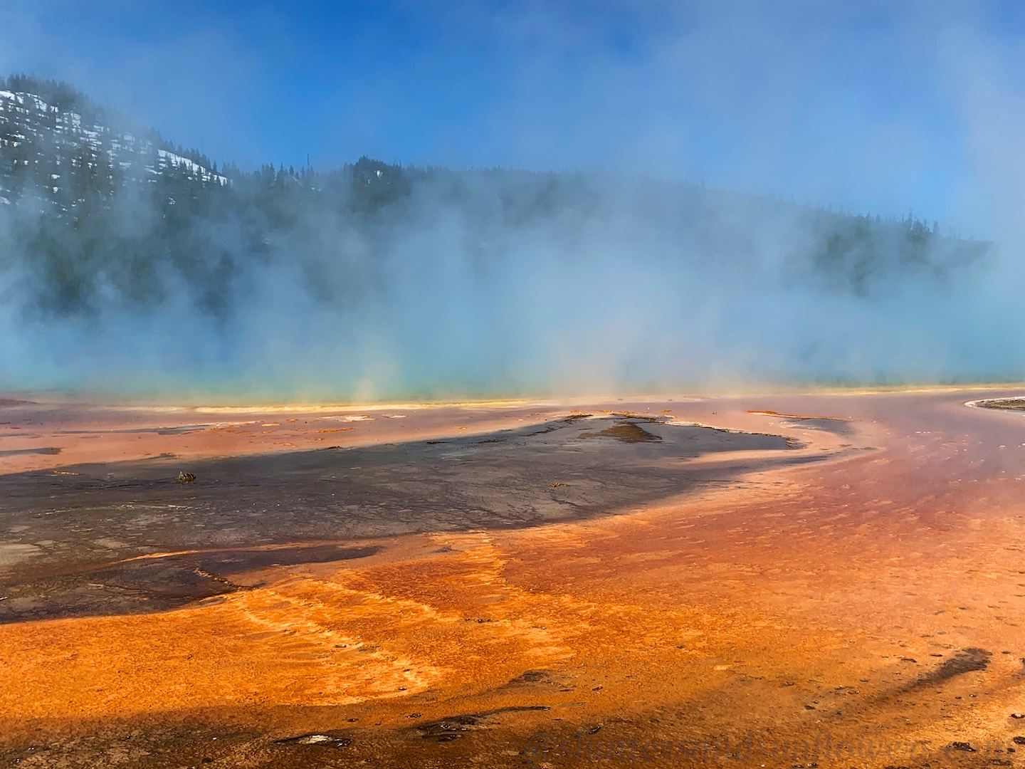 Edge of Grand Prismatic Spring, Yellowstone National Park, USA