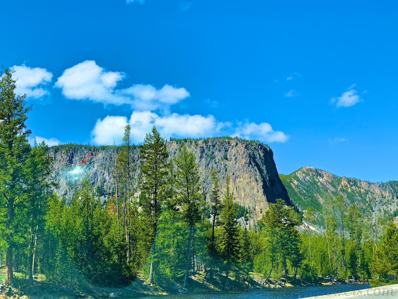 Edge of Yellowstone's Caldera by the Madison River, Yellowstone National Park, USA
