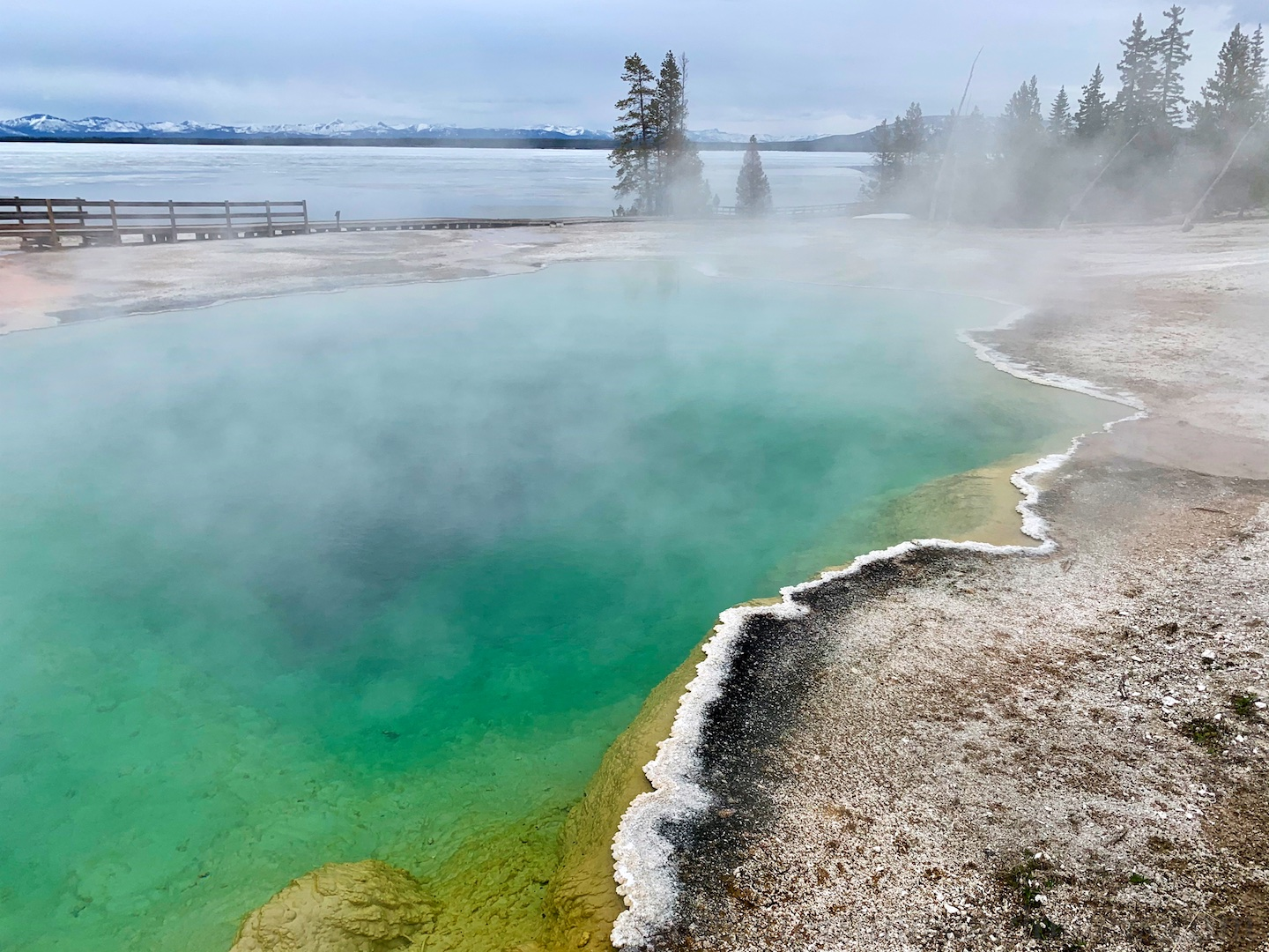 Geyser at West Thumb thermal area, by Yellowstone National Park, USA