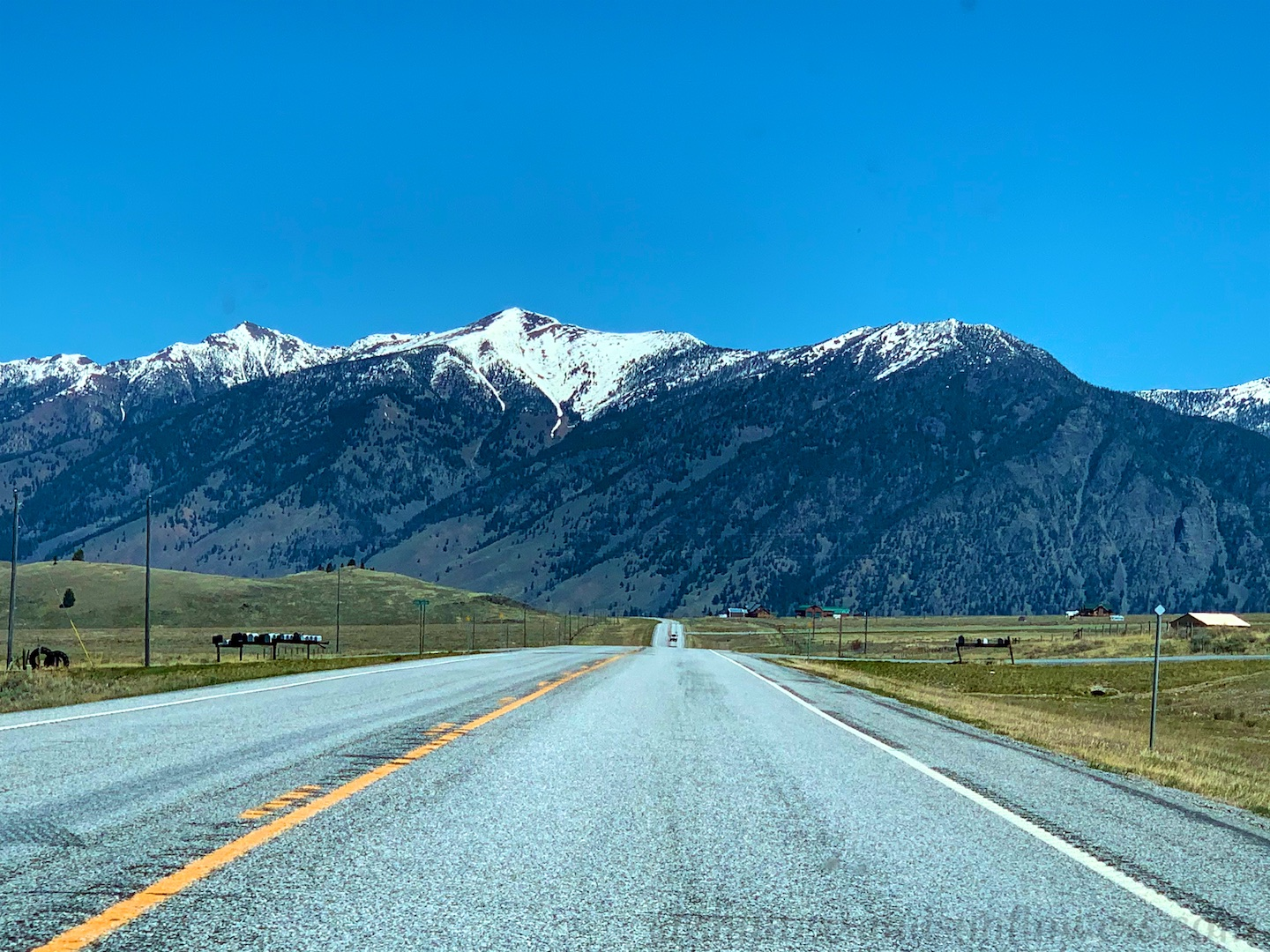 Highway '20' from West Yellowstone, Montana, USA