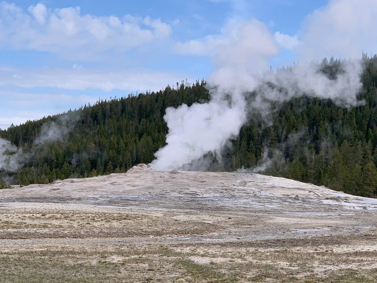 Old Faithful Geyser at Yellowstone National Park, Day 7 of American Road Trip