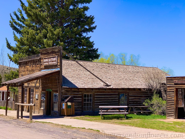 Historic buildings in Virginia City, Montana, USA