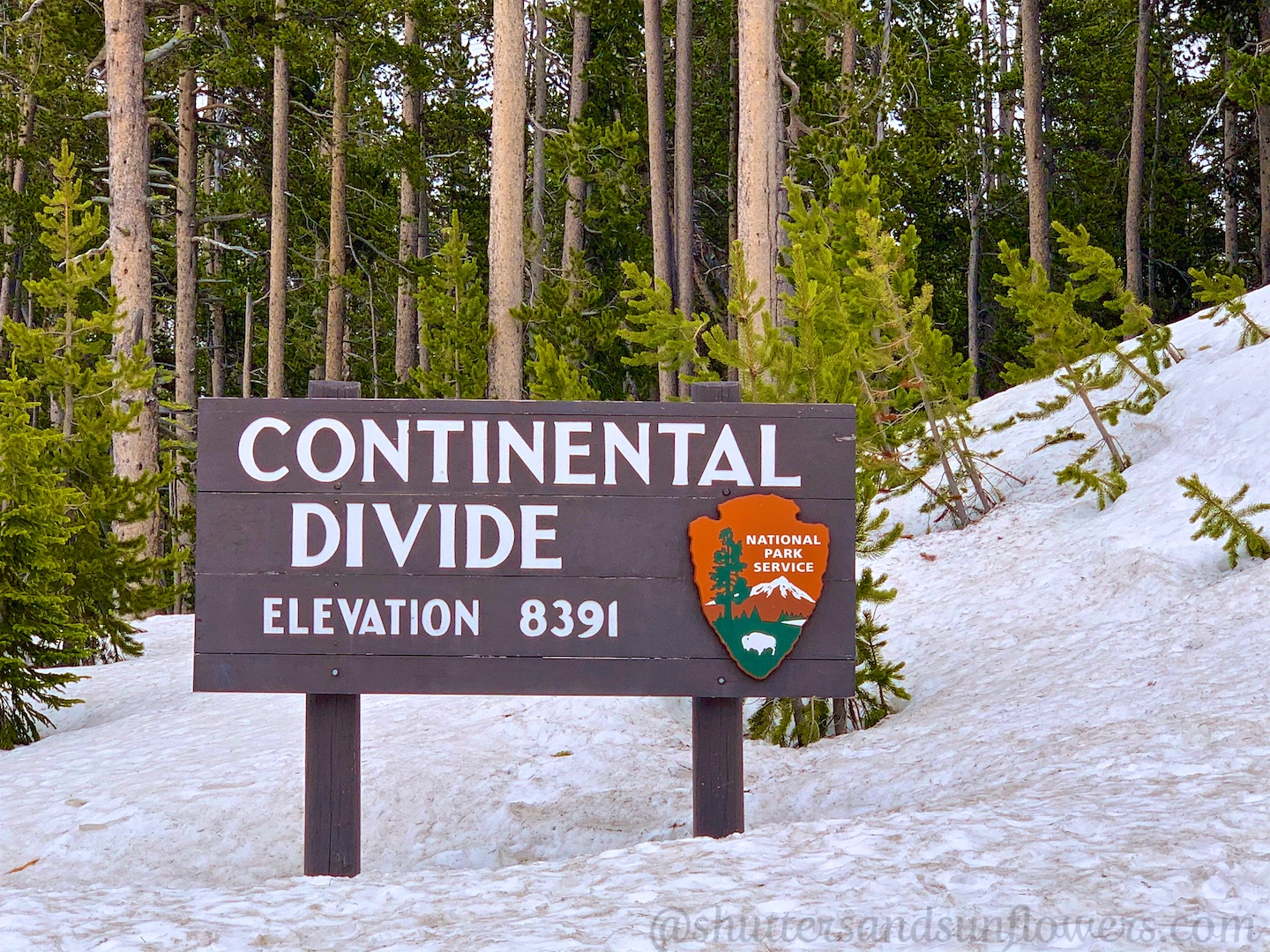 The Continental Divide at Yellowstone National Park