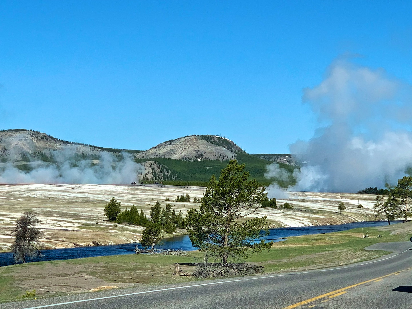 The Midway Geyser Basin, Yellowstone National Park, USA