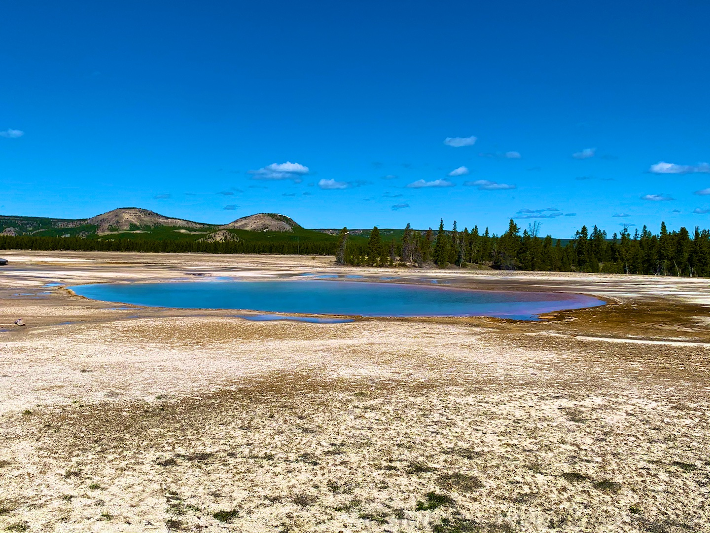 Opal Pool at Midway Geyser Basin, Yellowstone National Park, USA