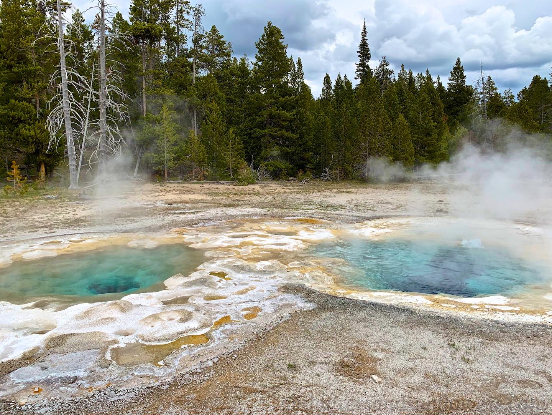 Thermal pools at Upper Basin Yellowstone National Park