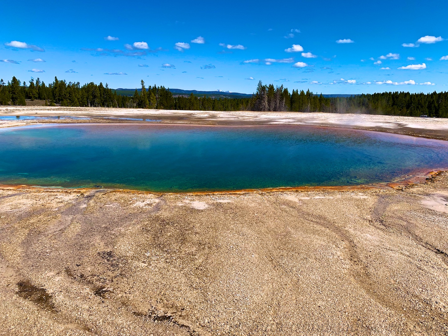 Turquoise Pool at Midway Geyser Basin, Yellowstone National Park, USA