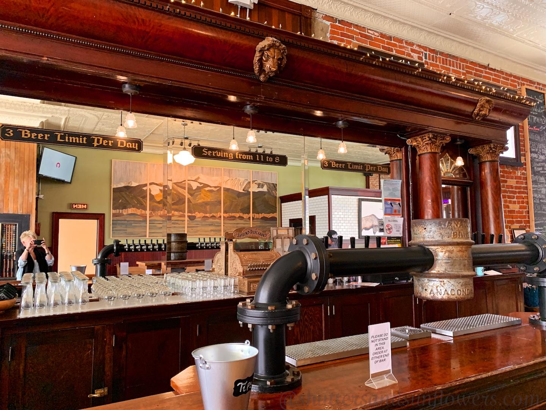 Bar of the Smelter City Brewery, Anaconda, Montana, USA