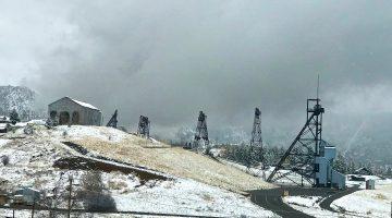 Butte Mining Area in winter, Butte Montana, USA