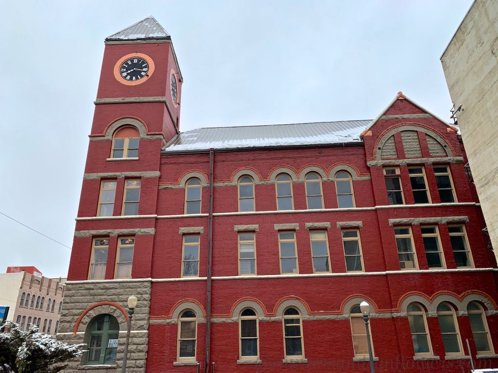 Butte's former civic offices, home to the 'Butte Bastille'