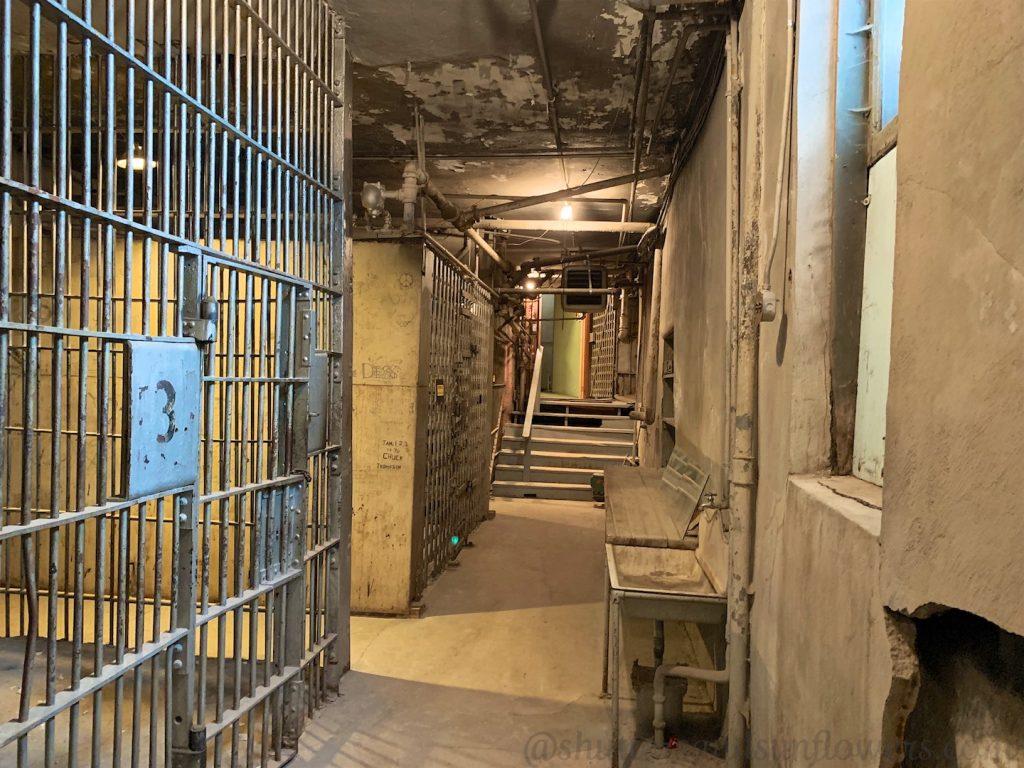 Cells in Butte's old city jail, 'the 'Butte Bastille'