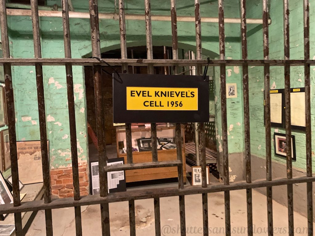 Evel 'Knievel's cell in Butte's old city jail, 'Butte Bastille'.