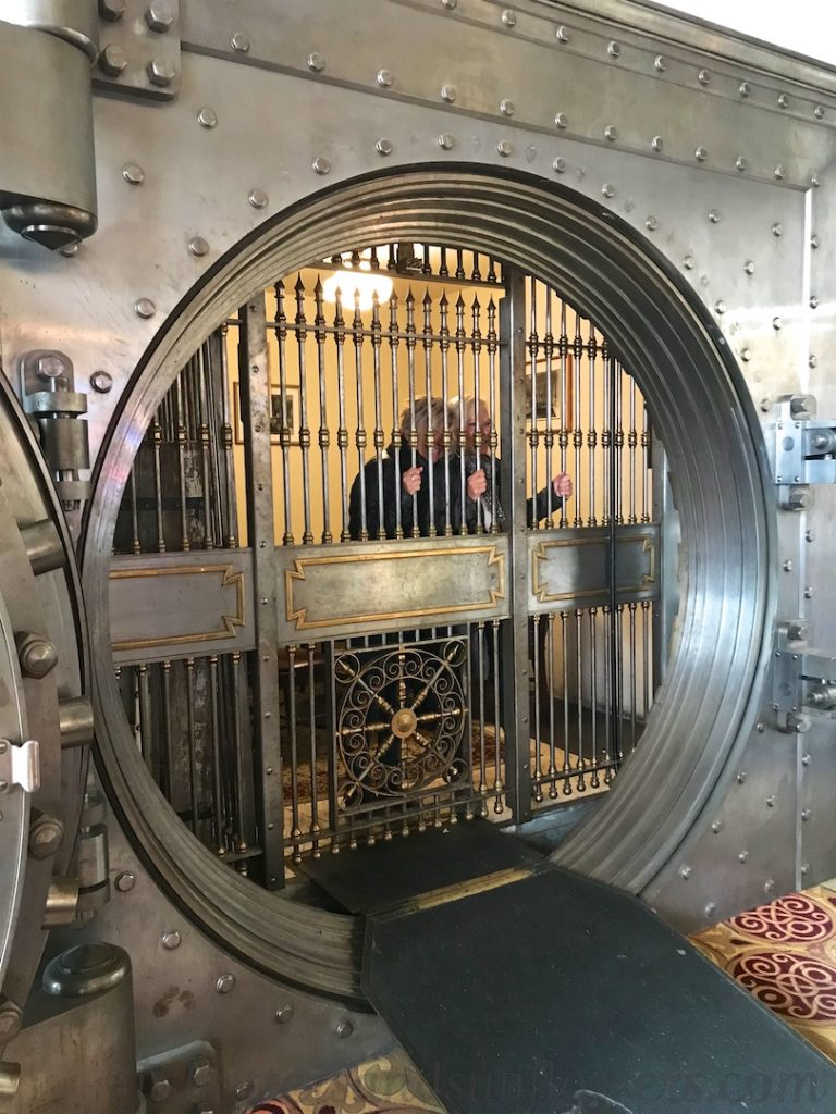 Inside the Vault of old Metals Banc Building in Butte, now Metals Bar, Butte, Montana, USA