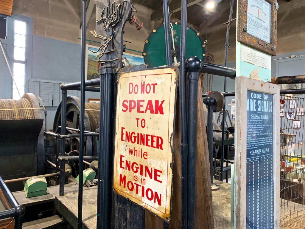 Mine shaft operation machinery, mining museum,Butte, Montana