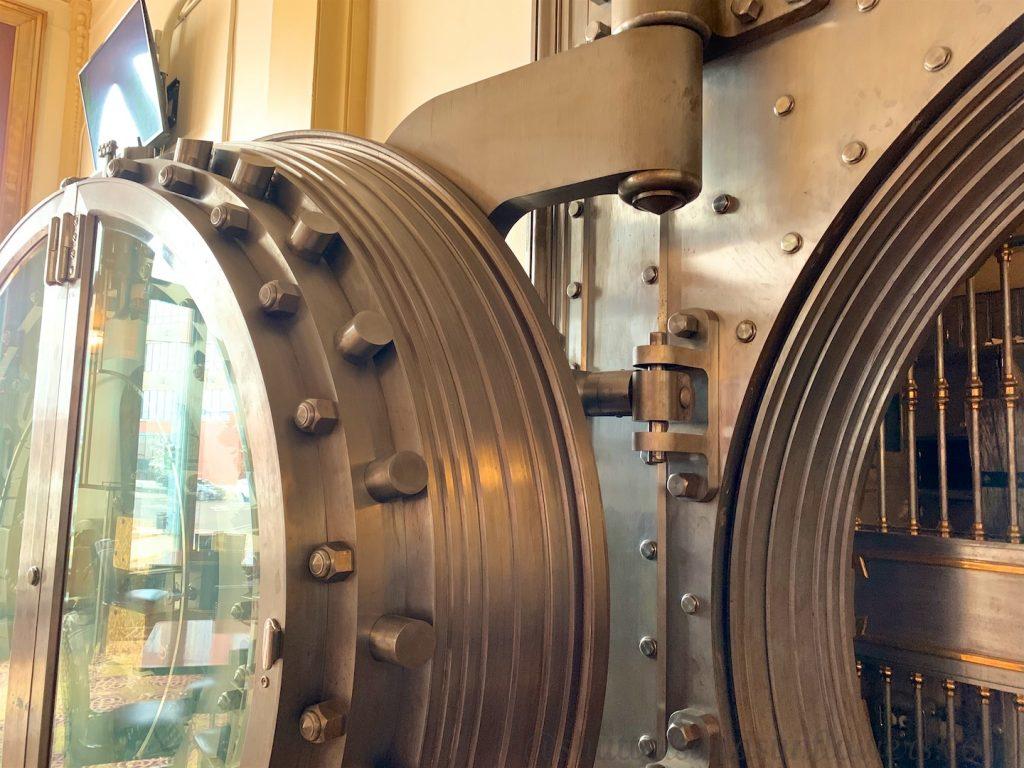 Vault door of Metals Bank Building in Butte